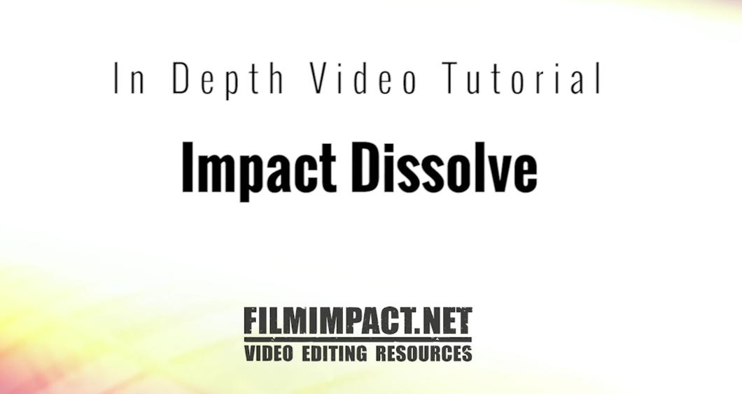 Free Impact Dissolve from FilmImpact - PremierePro net