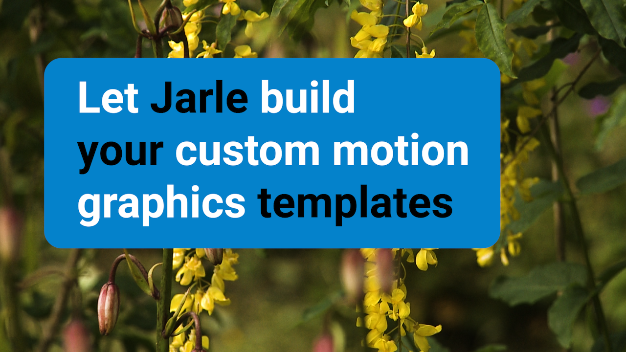 Let me create Motion Graphics Templates for your company
