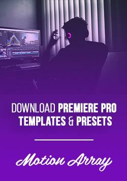 Download Premiere Pro templates and presets from MotionArray
